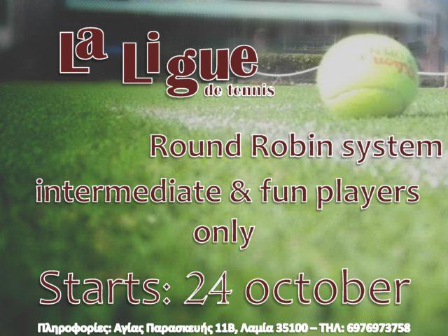 La Ligue – Πρωτάθλημα τένις ενηλίκων 2016-2017