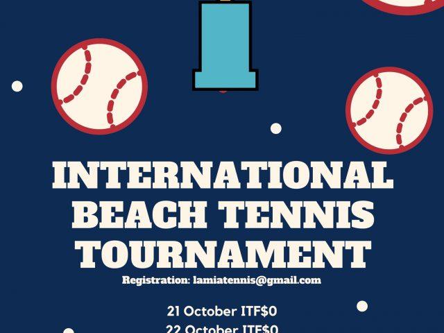 Raches Beach Tennis Cup 21.22/10/2017
